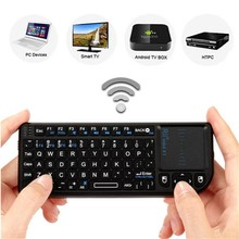 New Black 3 in 1 Rii mini X1 Handheld 2.4G RF Wireless Keyboard Qwerty With Touchpad Mouse For PC Notebook Smart Google TV Box