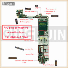 2pcs Logic Board LCD trouch screen camera 3D backlight GPS antenna For iPhone 7 7p plus FPC Connector Part FPC Repair Parts