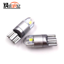 newest 2 pcs T10 LED car light SMD 3030 marker lamp w5w 194 501 bulb wedge parking dome light canbus auto car styling 12v(China)