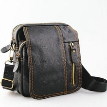 Fashion 100% Genuine Leather Man Messenger Bags Cowhide Leather Male Bag Casual Men Commercial Briefcase Shoulder Crossbody Bag