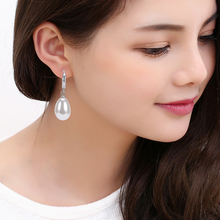 Simple Simulated Pearls Classic Earring Brands Exquisite Waterdrop Pearl Teardrop Earrings Silver Small Earring Hoops Duftgold(China)
