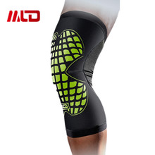 MLD Ultralight elastic breathable football basketball volleyball knee pads Leg Long Sleeve Protector Sport Safety Calf Kneepad