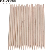 20 Pcs Nail Art Design Orange Wood Stick Cuticle Pusher Remover For Manicure Care Tools(China)