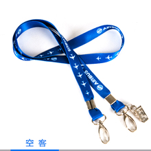 Airbus Lanyard, Blue Ribbon Rope Sling Simple Design for ID Case Holder for Pilot Aviation Lover Airman Flight Crew