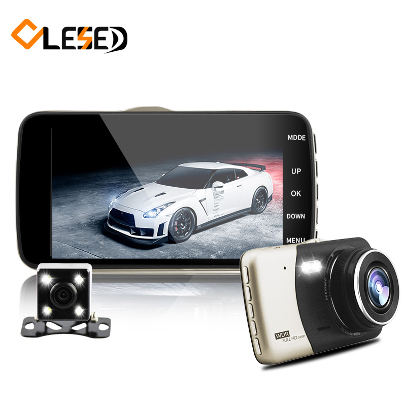 4.0 inch IPS dual lens car dvr auto camcorder camera cars dvrs carcam dash cam full hd 1080p parking recorder video registrator(China)