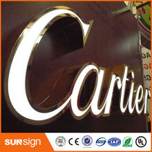 Custom led acrylic sign frontlit led channel letter sign