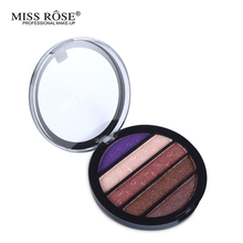 Brand New 5 Colors Eye Shadow Round Palette Makeup Glitter Pigment Eyeshadow Make Up Palette Layering Miss Rose Cosmetics