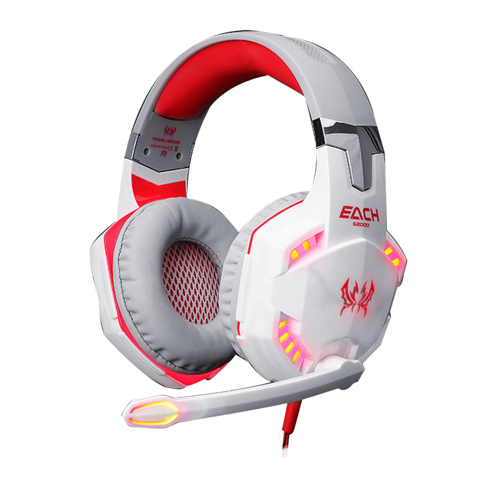 White Gaming Headset for PlayStation 4 PS4 Tablet Wired Computer 3.5mm Over Ear Hifi Stereo Headphones with Mic LED Light<br><br>Aliexpress
