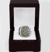 Cost Price 2010 San Francisco Giants World Series Baseball Replica Copper High Quality Championship Rings with Wooden Boxes(China)