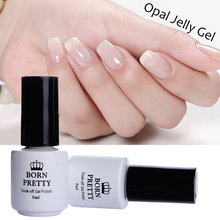 BORN PRETTY Opal Jelly Nail Gel 5Ml White Soak Off Gel Polish Manicure Nail Art UV Gel Varnish