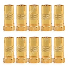 Sale 50 Pcs Gold Plated F Male To Pal Female Plug TV Coax Antenna Cable Connector High Quality minijack plug Wire Connector