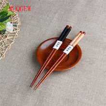 MUQGEW 1 Pairs New Handmade Japanese Natural Chestnut Wood Chopsticks New Arrival High Quality Tableware New Fashion Value Gift