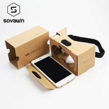 VR Google Cardboard II 2.0 VR Headset ii kit DIY 3D MAX Glasses Virtual Reality For iPhone Android 4-6 Mobile Phone