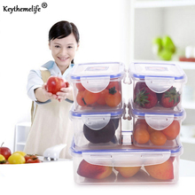 Keythemelife 1PCS Kitchen Food Preservation Box Storage Box Plastic PP Food Container Microwave Refrigerator Organizer 2B(China)