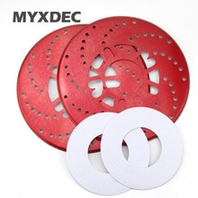 New Listing 2pcs Car Universal Thicken Aluminum Disc Brake Rotor Racing Covers Drum Decorative 25cm Red Blue Golden Black/Yellow(China)
