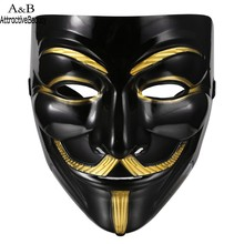 AttractiveBeauty Halloween Masquerade Costume Cosplay V for Vendetta Anonymous Mask