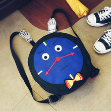 Cute Cartoon Blue Train  Backpack for Girls/Boys Embroidery Teenagers Travel Bags School bag Bagpack Mochila Feminina