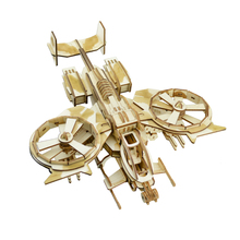 Avatar Scorpion Helicopter Airplanes Wooden Fighter Model Simulation Military Aircraft Children Assembled Toys(China)