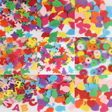 100pcs/lot Random Mixed Color Polyester Felt Patch Applique Felt Scrapbooking Craft Sticker Non-woven Patch For Clothing(China)