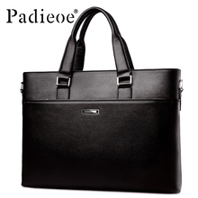 Padieoe Brand Genuine Leather  messenger bags handbag men's shop online china handbags business man briefcases 48ZPX
