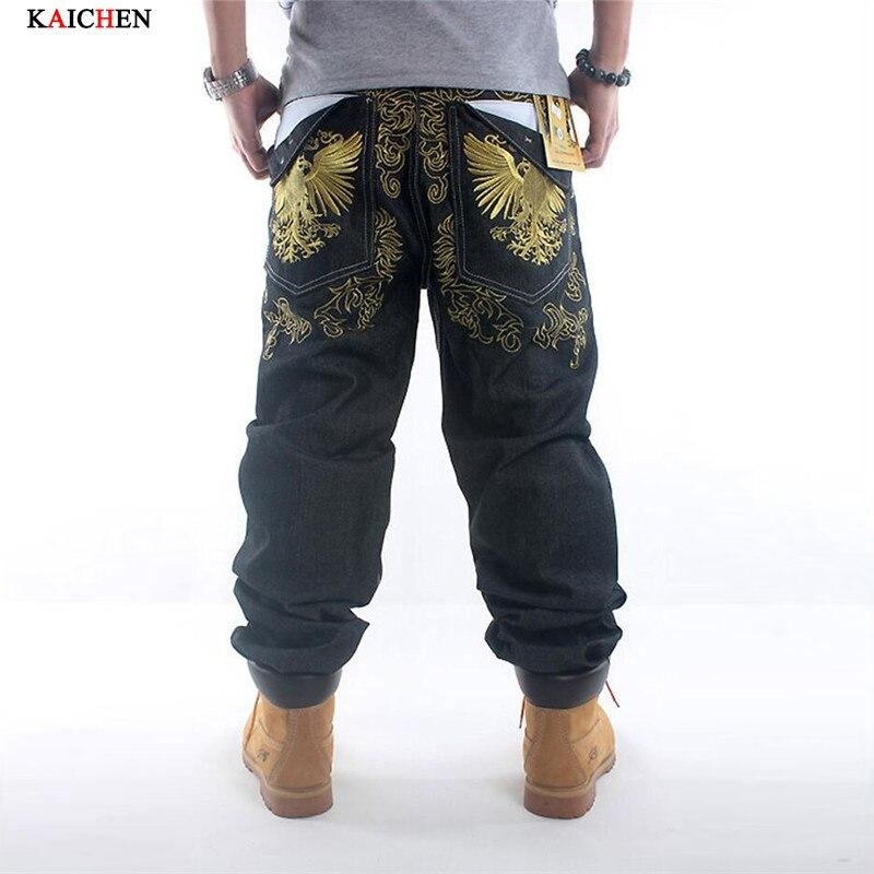 Men hip hop jeans skateboard men baggy jeans denim hiphop pants casual loose jeans rap 4 Seasons trousers big size 30-42Одежда и ак�е��уары<br><br><br>Aliexpress
