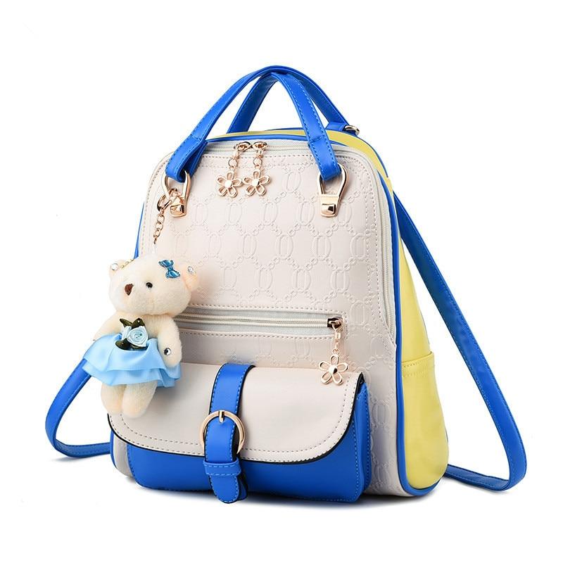 Korean college style sweet lady shoulder bag high quality embossed PU leather ladies fresh backpack School bags<br><br>Aliexpress