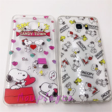 For Samsung Galaxy S7 s7edge note3 note4 Cook Chef Hit Family Snoopie Dog Candy Town Woodstock Music Clear Soft TPU Case Cove