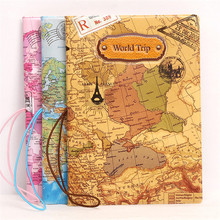 World Map Passport Holder Cover PU Leather ID Card Travel Ticket Pouch Packages Three - dimensional passport Covers Storage bags(China)
