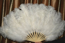 15 bones high quality oversized ostrich feather fan dancing from Halloween decoration jewelery(China)