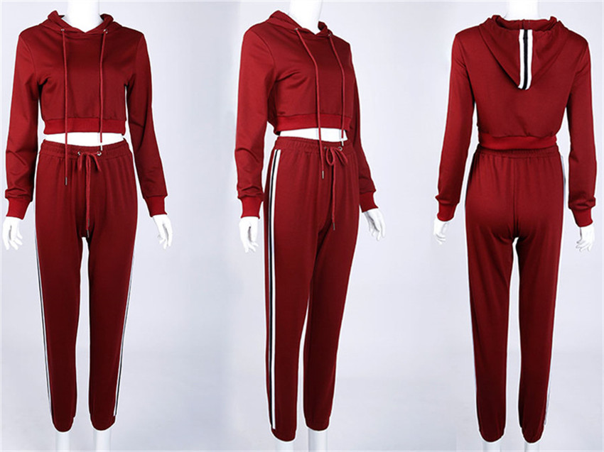 Women's Tracksuits Set, Casual Hooded Sweatsuit Set 41