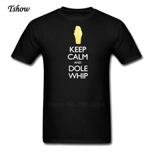 Keep Calm And Dole Whip T Shirt Man Leisure Summer Print Cotton Short Sleeve Male Tops Round Neck T-shirt men's Tee(China)