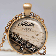 Flute necklace,flute pendant,music pendant flute player pendant music necklace Jewelry Gift For Men