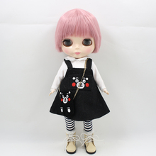 Free shipping Fortune Days Blyth doll with Series No.90BL1063 Pink straight hair Cute Plump Lady  Factory Blyth