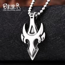 Buy Beier new store 316L Stainless Steel pendant necklace high Cross Fire retro fashion chain men jewelry for $2.99 in AliExpress store