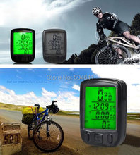 Free shipping SunDing Cycling Accessories LCD Digital Waterproof Noctilucent Bicycle Bike Computer Speedometer 24 Function(China)