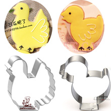 2pcs Hen Chicken Breeds reposteria patisserie Cookie Cutters Moldes Metal Fondant Cake Decor Tools Chocolate Dessert Pastry Shop