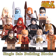 1pc Jon Snow Daenerys Tyrion Lannister White Walkers Game of Thrones Diy figures Ice and Fire Series Building Block Kids DIY Toy