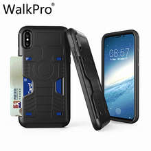 Buy WalkPro iPhone 8 case Card cover Anti-knock Anti-slipShockproof Silicone + PC 2 1 Double protection Phone cases Card NEW for $4.04 in AliExpress store