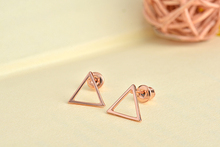 SMJEL Small Hallow Triangle earrings for women Metal Geometric Earrings boucles d'oreilles pour les femmes Simple Earing Gfits(China)