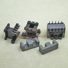 10sets/lot EE28 PC40 Ferrite Magnetic Core and 5 Pins + 5 Pins Top Entry Plastic Bobbin Customize Voltage Transformer
