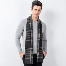 Classic Design Winter Scarf Long Warm Cashmere Scarf Men Scarves Gifts for Men Business Casual(China)