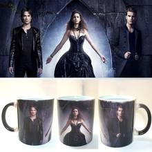 the Vampire Diaries color changing mug Hot Cold Heat Temperature Sensitive mug Coffee Tea Mug Cup best gift for your friends