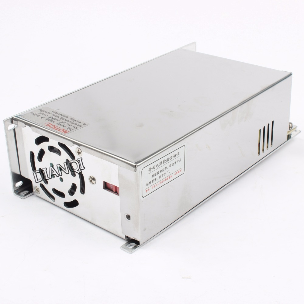 DIANQI 600W 12V50A Single Output Switching power supply 110V or 220V input AC to DC switching power supply 12v 50A 600w S-600-12<br>