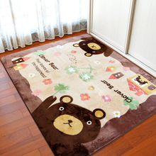 Brown Bear Factory direct thicker non-slip mats cartoon pastoral living room coffee table bedroom carpet floor mats wholesale