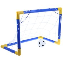 Portable Mini Football Soccer Goal Post Net Set Easy-to-Install Pump Indoor Outdooor Kids Toy Fun Soccer Sport