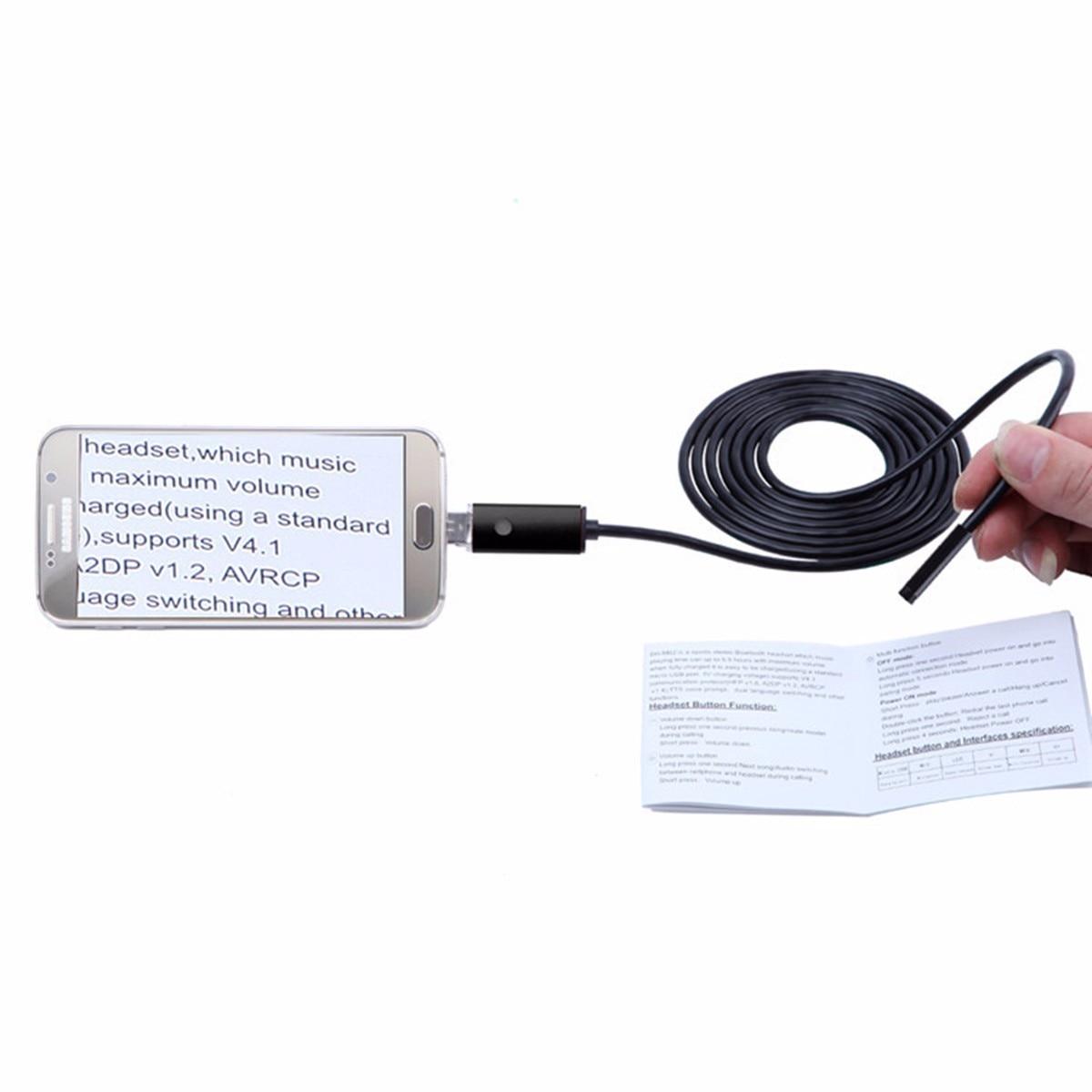 5-10M Wasserdicht USB Endoskop Rohr Handy kamera Inspektionskamera 6 LED AN99 V