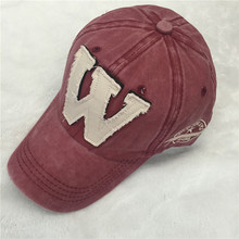 Washed Denim Snapback red Hats Autumn Summer Letter W Men Women Baseball Cap Golf cap outdoor Casquette Hockey Caps