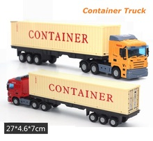 27Cm Container Truck Alloy Car Model, 45 feet Container. Free wheel Toys Car, Door can Open(China)