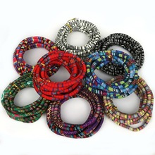 High Quality 8 Colors 5mm Thickness Multicolors Bohemia Fabric Cord Rope String For DIY Braided Bag Jewelry Crafts Making(China)