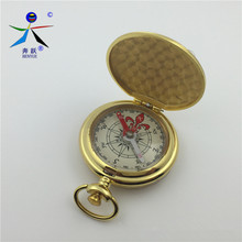Brand High quality Professional and accessories pocket watch compass Brass Pocket Compass flip-end gift